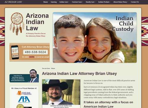 AZX Indian Law Website Design by McColley Marketing Media, Mesa, AZ