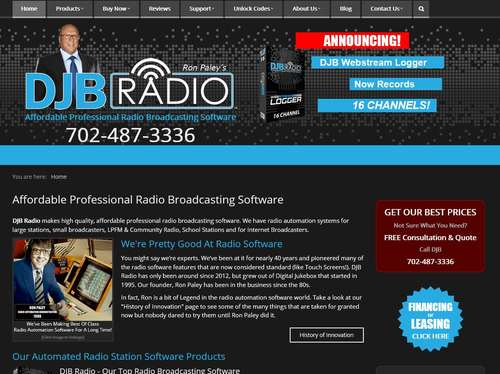 DJB Radio Website Design by McColley Marketing Media, Mesa, AZ