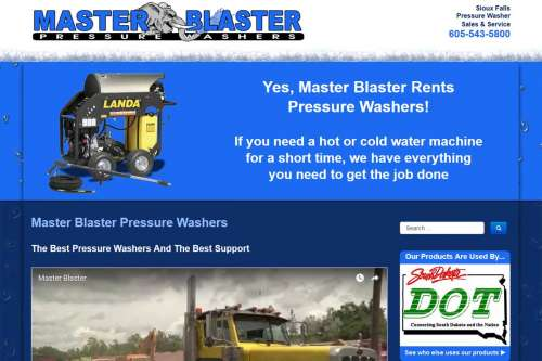 Master Blaster Pressure Washers Website Design by McColley Marketing Media, Mesa, AZ