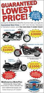 Motorcycle Sale Ad for MidAmerica MotoPlex